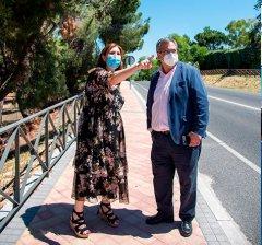 Pozuelo de Alarcón   Pérez Quislant visita las obras de mejora en la carretera M-508